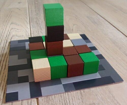 Une partie de Jenga ? Non, non, Minecraft !
