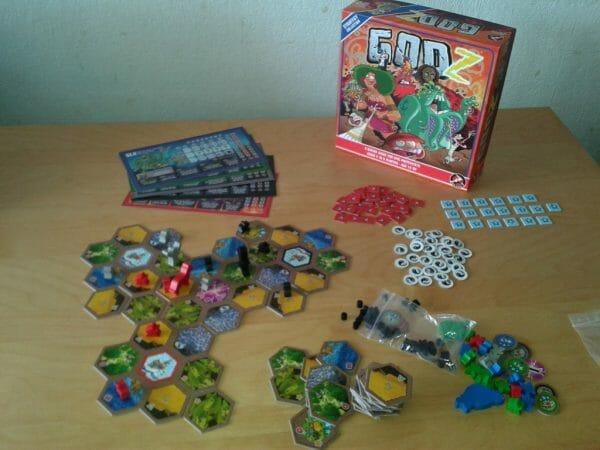 Voilà tout ce que vous aurez sur la table lors d'une partie de GodZ... On a vu pire.
