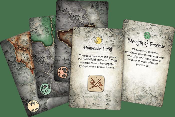 Battle for Rokugan boite cartes