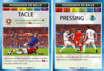 Cartes pour possession de balle400p