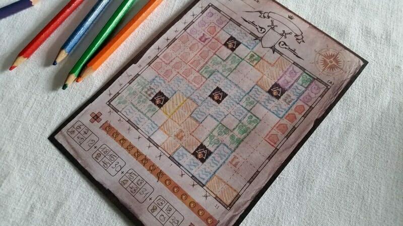 Cartographers (4) avec crayons