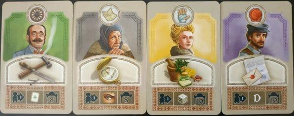 Les Cartes Actions avec les 3 éléments (icône Danger, portrait Allié, frise d'action d'Ivan Ogareff)