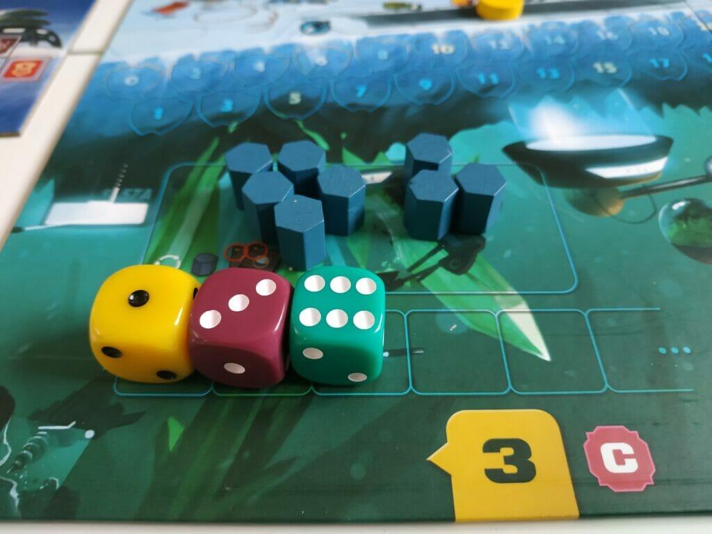 Pas de chance pour le joueur vert qui ne recevra que 4 minerais au lieu de 6...ça aurait pu être pire !