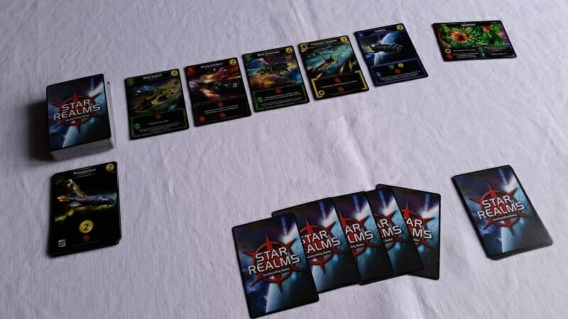 Star Realms Gambit (2) setup