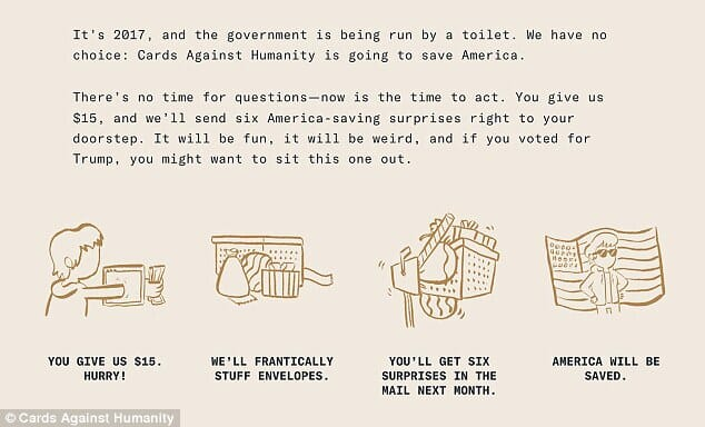 cards against humanity contre trump 2