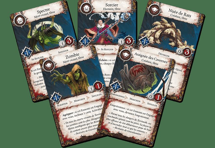 cartes ennemis heros terrinoth