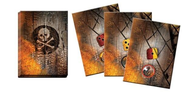 Les dés de valeur 1 passent tous à deux, et si un squelette est présent, il se rapproche de l'un des joueurs.