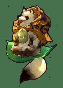 Une version draft de l'un des yokai du jeu.