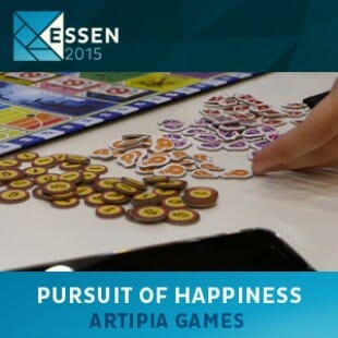 Essen 2015 – jeu Pursuit of happiness – Artipia games – VOSTFR