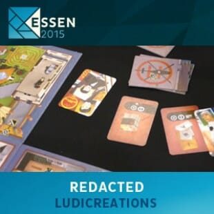 Essen 2015 – jeu Redacted – Ludicreations – VOSTFR