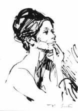 Femme au mirroir (esquisse)