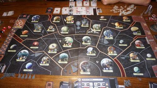 Star Wars Rébellion : le plateau de jeu