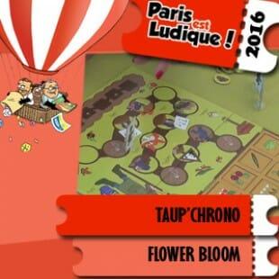 Paris est ludique 2016 – Jeu Taup'Chrono – Flower Bloom – VF