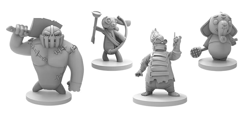 stuffed fables plaidhatgames jeu de societe ludovox figurines
