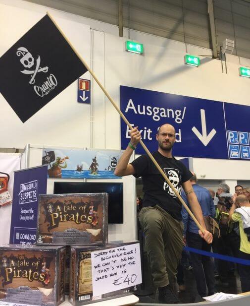 Cranio avec Tale of pirates, salue les visiteurs