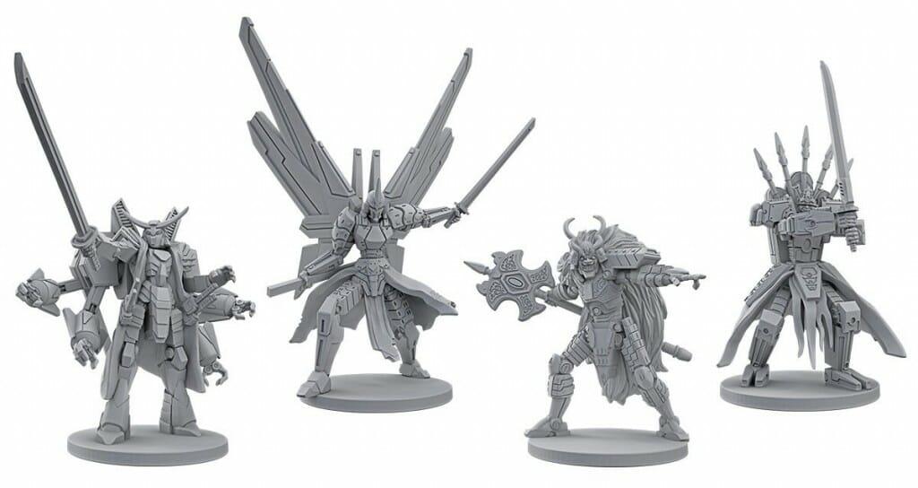 Starship Samurai figurines