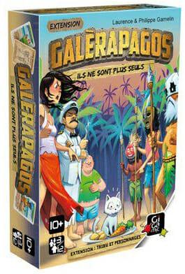 Galerapagos extension Tribu et Personnages-Couv-Jeu de société-Ludovox