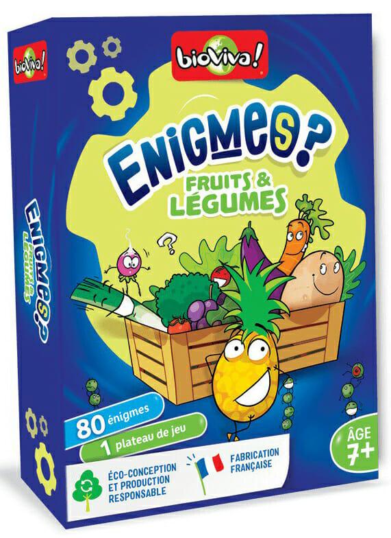 Enigmes - Fruits Et Légumes-Couv-Jeu de société-Ludovox