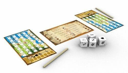 Kingdomino duel-MAteriel-Jeu de société-Ludovox