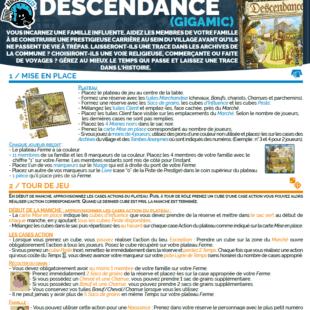Règle express : fiche résumé Descendance