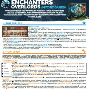 Règle express : fiche résumé Enchanters Overlords