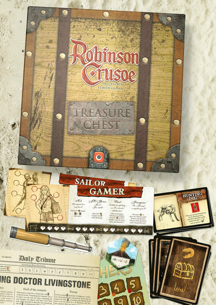 The Treasure Chest for Robinson Crusoe Adventures on the Cursed Island jeu