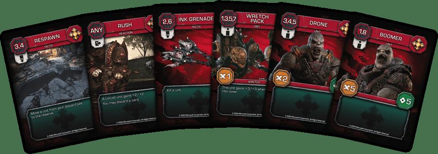 gears of War card game jeu