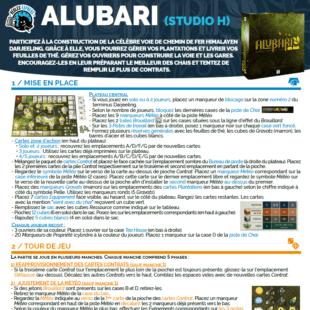 Règle express : fiche résumé Alubari
