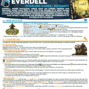 Règle express : fiche résumé Everdell