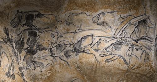 Grand panneau des lions de la grotte Chauvet