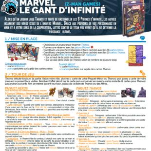 Règle express : fiche résumé Le Gant D'infinité