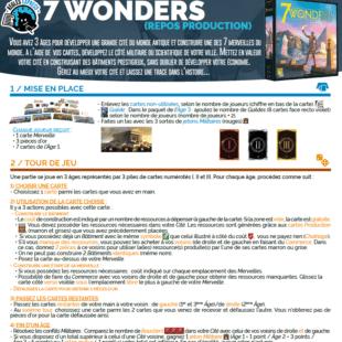 Règle express : fiche résumé 7 Wonders, édition 2020