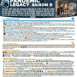 Règle express : fiche résumé Pandemic Legacy Saison 0