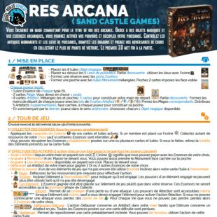 Règle express : fiche résumé Res Arcana