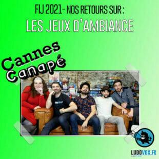 Cannes Canapé – FIJ 2021 – Les Jeux d'ambiance : Mot Malin, So clover, Wink, Nid d'Espions…