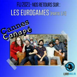 ⚡ CANNES CANAPÉ – FIJ 2021 – Les jeux Eurogames – Bonfire, Les pionniers, Atheneum Mystic library + Daimyo – partie 1/3