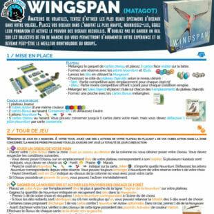 Règle express : fiche résumé Wingspan