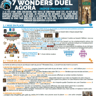 Règle express : fiche résumé 7 Wonders Duel Agora