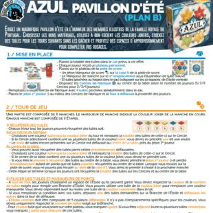 Règle express : fiche résumé Azul Pavillon d'Été
